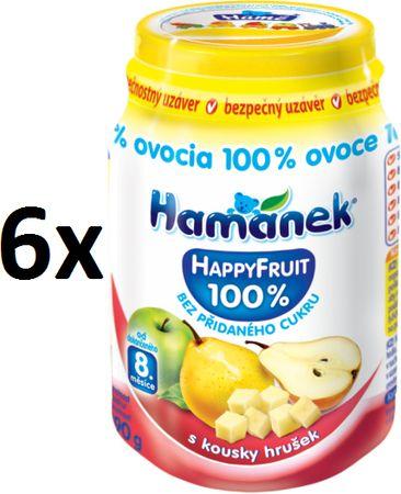 Hamánek Happy Fruit s kúskami hrušiek 6x190g