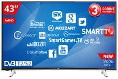 VOX electronics LCD TV sprejemnik 43YSD650 SMART + nosilec