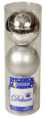 EverGreen Gule lesklé a matné s dekorom strieborné, 3ks