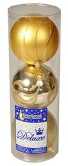 EverGreen Gule matné a lesklé s dekorom zlatá, 3ks