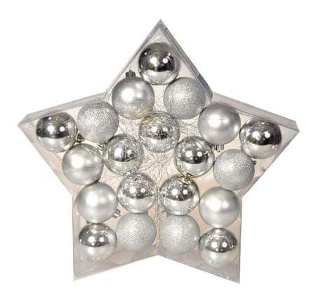 EverGreen set okraskov Star Silver, 20 kosov
