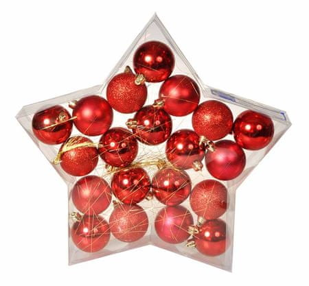 EverGreen set okraskov Star Red, 20 kosov