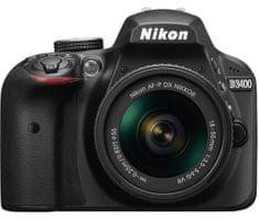 Nikon digitalni DSLR fotoaparat D3400 AF-P 18-55VR