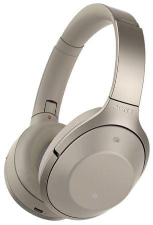 Sony brezžične Bluetooth slušalke 1000X, bež (MDR-1000XC)
