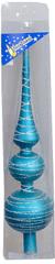 EverGreen Karácsonyi csúcsdísz, Türkiz, 30 cm