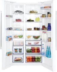 BEKO GN-163120 Szabadonálló side-by-side hűtőszekrény, Fehér