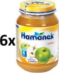 Hamánek S jablky neslazeno 6x190g