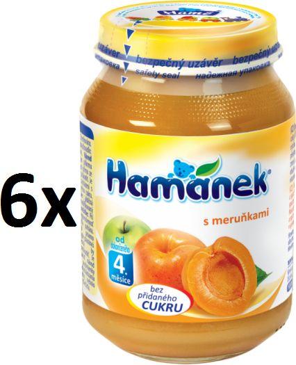 Hamánek S meruňkami neslazeno 6x190g