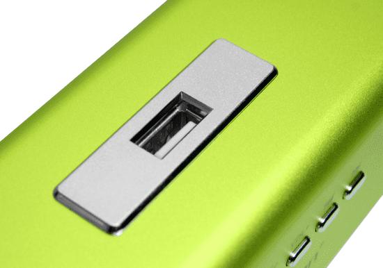 Technaxx MusicMan přenosný reproduktor, zelená - zánovní