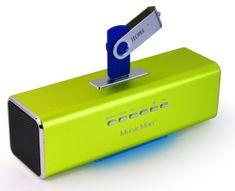 Technaxx MusicMan prenosný stereo reproduktor, zelený