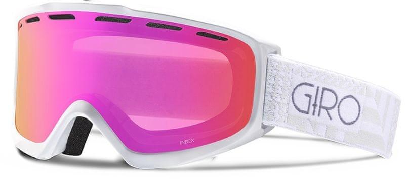 Giro Index White Pocket Square/Amber Pink M