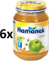 Hamánek S jablky 6x190g