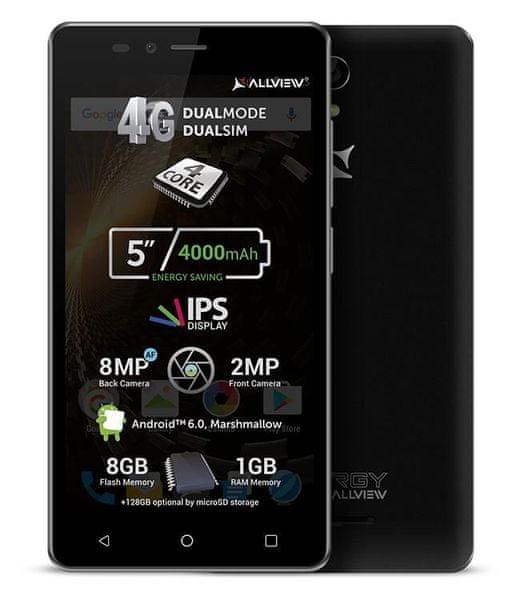 AllView P6 ENERGY LITE, černý