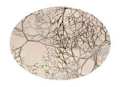 EverGreen Dekoračná organza dekor strieborná 2 x 1,5 m