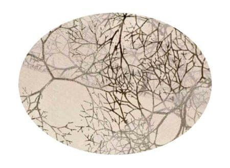 EverGreen Dekorační organza dekor stříbrná 2 x 1,5 m