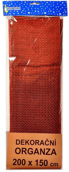 EverGreen Dekoračná organza bodky medená 2 x 1,5 m