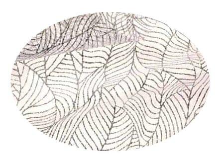 EverGreen Dekoračná organza lístky strieborná 2 x 1,5 m
