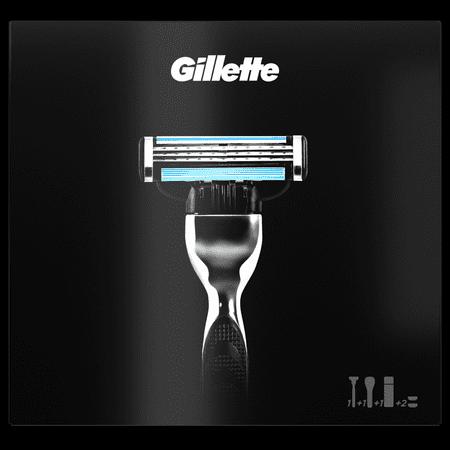 Gillette Mach3 Holicí strojek + náhradní hlavice 2 kusy + Extra Comfort Gel na holení 75 ml Dárková sada