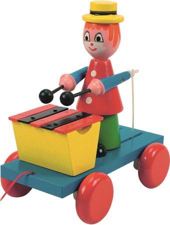Woody klovn na vozičku s ksilofonom