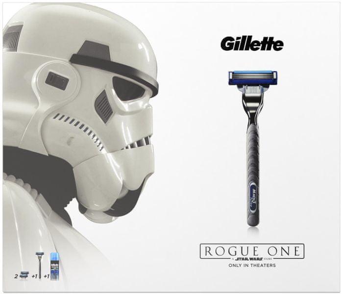 Gillette Mach3 Turbo Holicí strojek + náhradní hlavice 2 kusy + Extra Comfort Gel na holení 75 ml