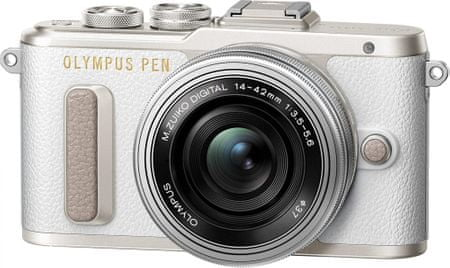 Olympus fotoaparat E-PL8 + 14-42 EZ White Traveler Kit (V205082WE000TK), bel