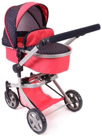 Bayer Chic kombiniran voziček MIKA, črno/roza