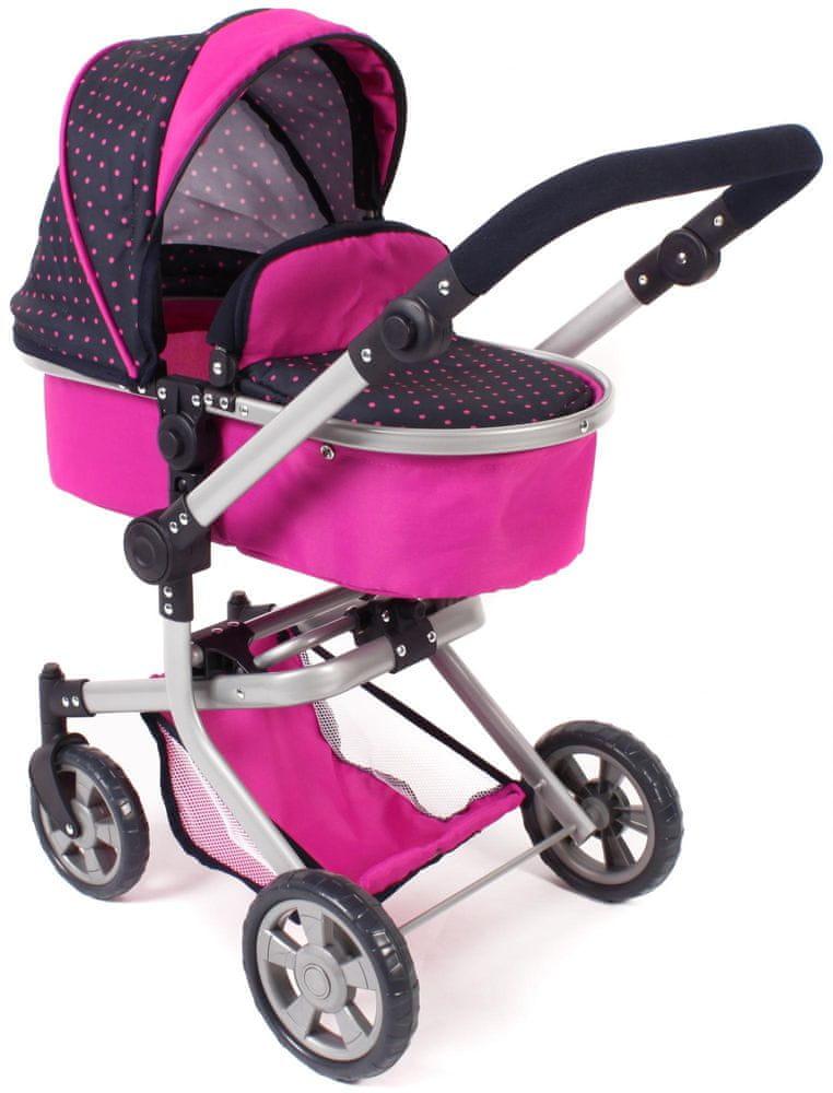 Bayer Chic Kombinovaný kočárek MIKA růžová/černá