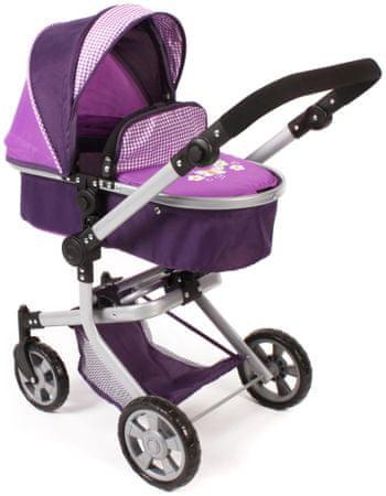 Bayer Chic Składany wózek dla lalek Mika, fioletowo-biały
