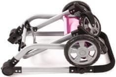 Bayer Chic Kombinovaný kočárek MIKA, růžový - rozbaleno