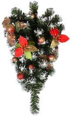 EverGreen Závesná dekorácia poinsettia červená