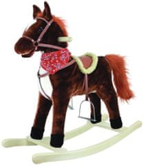 Bino Houpací kůň, plyš, střední, tmavě hnědý
