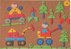 Woody Doska s pribíjacími tvarmi - Autá