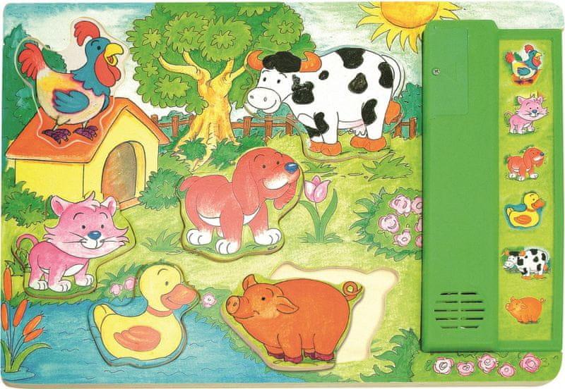 Woody Muzikální puzzle zelené - Zvířátka