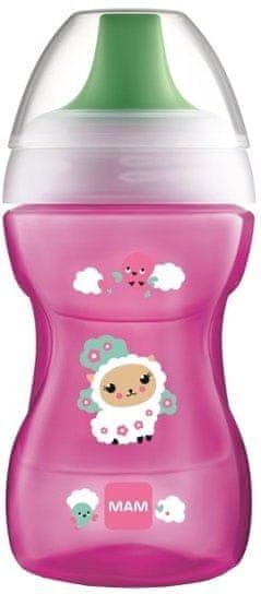 MAM Learn to Drink Cup - hrnek na učení 8+m, růžová