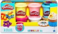 Play-Doh komplet plastelina s konfeti, 6 kosov
