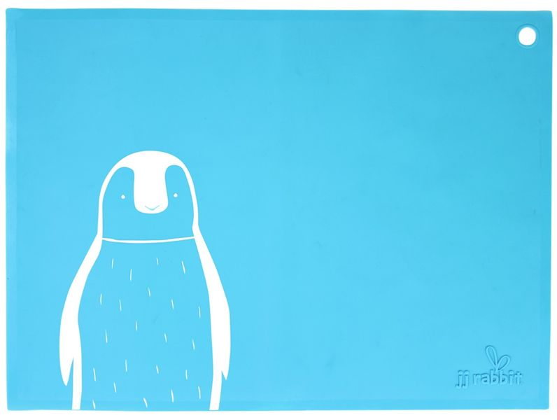 JJ Rabbit Silikonové prostírání Tučňák - modré