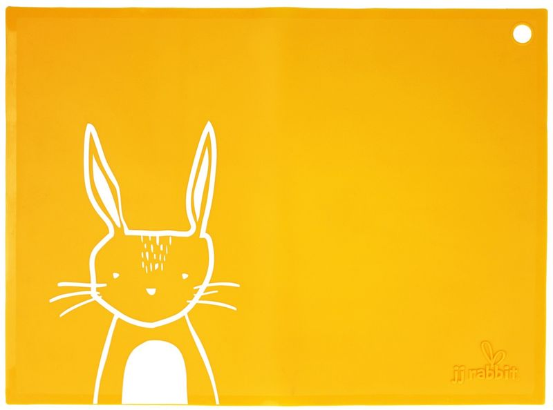 JJ Rabbit Silikonové prostírání Kralíček - oranžové