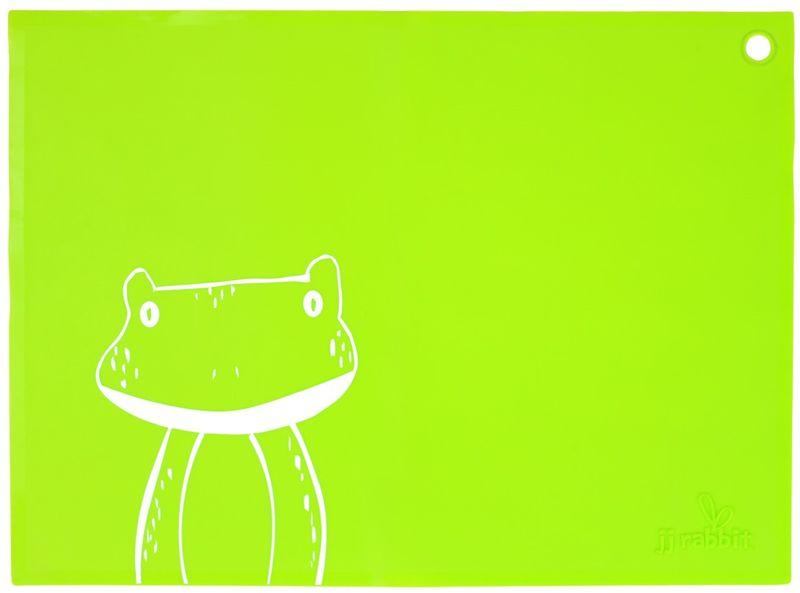 JJ Rabbit Silikonové prostírání Žába - zelené