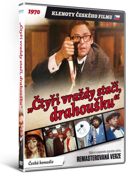 """""""Čtyři vraždy stačí, drahoušku"""" - edice KLENOTY ČESKÉHO FILMU (remasterovaná verze) - DVD"""