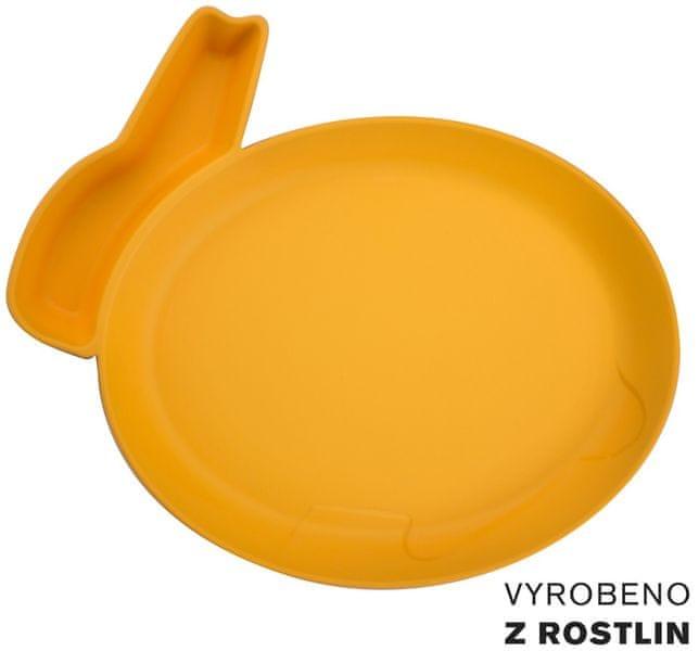 JJ Rabbit Talíř Králíček - oranžový
