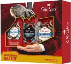 Old Spice Kazeta deodorant + sprchový gél + voda po holení WolfThorn