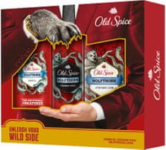 Old Spice WolfThorn Deospray 125 ml + Sprchový gel 250 ml + Voda po holení 100 ml Dárková sada