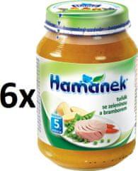 Hamánek Tuňák se zeleninou a bramborem 6x190g