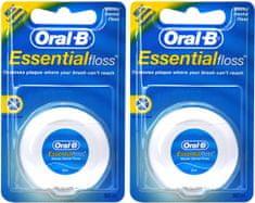 Oral-B zobna nitka Essential Floss, 2 x 50 m