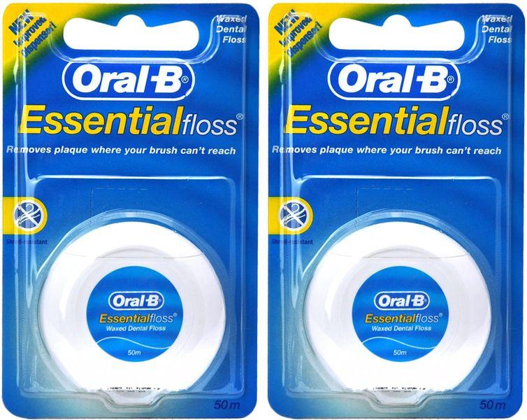 Oral-B Dentální nit Essential Floss 2x 50 m