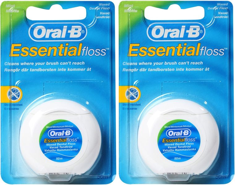 Oral-B Dentální nit Essential Floss Mint 2x 50 m