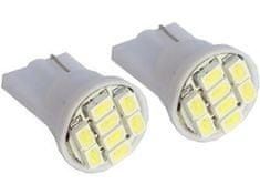 M-LINE žarnica LED 12V W5W-T10 8xSMD 3528, bela, par