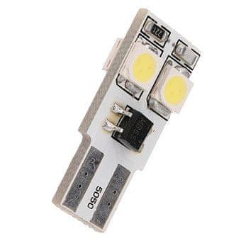 M-LINE žarnica LED 12V W5W-T10 4xSMD 5050 CANBUS, bela, par