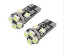 M-LINE žarnica LED 12V W5W-T10 8xSMD 3528 CANBUS, bela, par