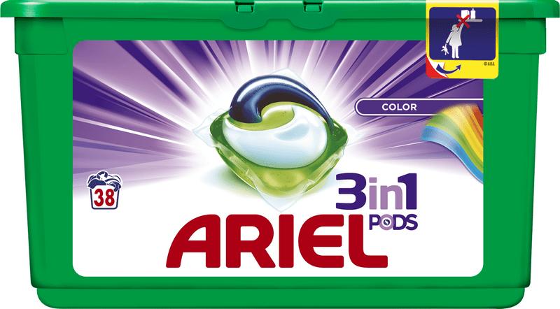 Ariel Color 3v1 gelové kapsle na praní 38 ks